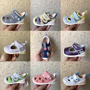 基诺浦2019年夏季新款关键鞋 宝宝专业学步鞋 机能凉鞋