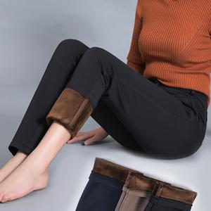 女士裤子冬季长裤加绒中老年