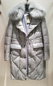 歌家E164X013羊皮羽绒服 女羽绒皮衣 冬羽绒上衣外套吊牌价12800
