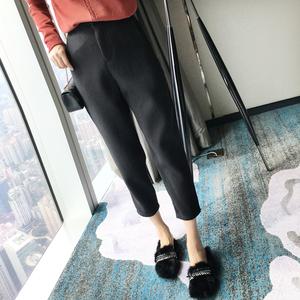 竖条条裤子女