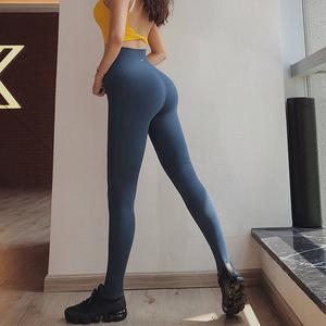 蜜桃女孩高腰紧身运动长裤女显瘦高弹力速干健身裤训练瑜伽提臀裤