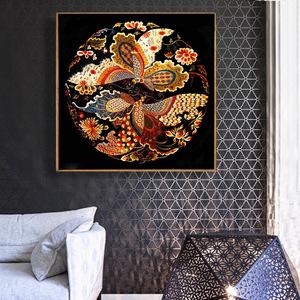 客厅满钻钻石画5d新款魔方圆钻砖石秀贴钻十字绣凤求凰卧室凤凰花