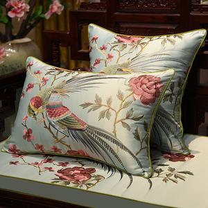 红木沙发中式坐垫图片