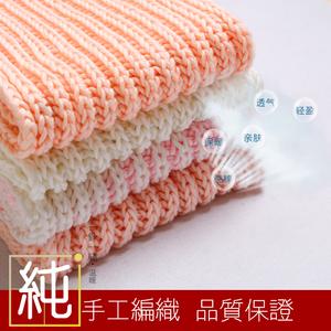 纯手工编织男女围巾生日礼物情侣免费绣字母双元宝针可定制