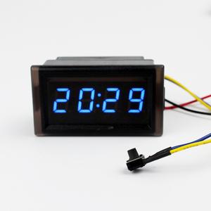 汽车摩托车改装电子时钟表 防水型车载时钟夜光LED数字时间显示表