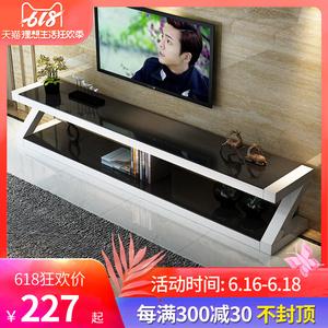 钢化玻璃电视柜茶几组合套装小户型客厅简易现代简约电视机柜迷你