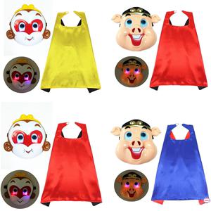 万圣节儿童西游记表演服装猪八戒衣服孙悟空套装面具 金箍棒 披风