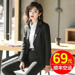 小西装外套女上衣韩版正装套装气质时尚工作服职业大学生黑色西服
