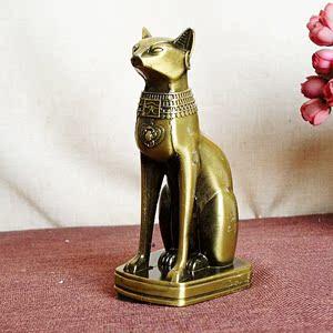 埃及猫神复古玄关欧式结婚礼物创意房间家居装饰品摆件金属工艺品