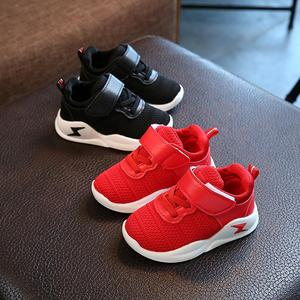儿童鞋子春秋单鞋2小孩4男童运动鞋5女童宝宝软底学步网鞋1-3岁半