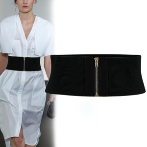 腰封女士歐美簡約百搭時尚束腰帶裝飾配裙子襯衫毛衣外穿松緊彈力