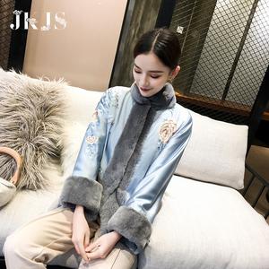中國風棉衣女漢服日常旗袍小外套盤扣上衣中式女裝冬改良唐裝棉襖