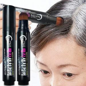 孕妇可用 一次性快速染发笔遮盖白发补染棒持久不掉色?#21442;锎可?#22120;
