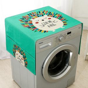 冰箱盖布防尘滚筒式洗衣机蒙盖巾台布海尔搭帘子上的布罩家用套子