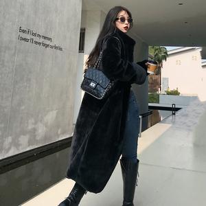 2019冬仿皮草外套女中长款韩版獭兔毛大码立领宽松水貂绒毛毛大衣