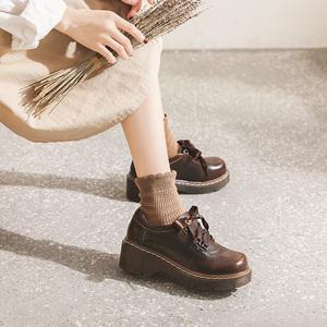 jk?#21697;?#23567;皮鞋女洛丽塔英伦软妹增高厚底萝莉日系中跟lolita茶会鞋