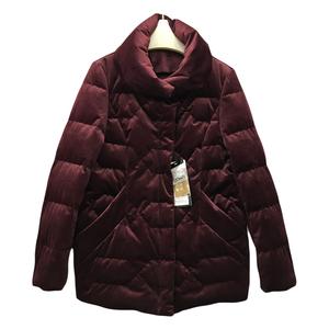 艾萊雅閣2019冬季新款時尚羽絨服女絲絨外套厚立領上衣服大碼女裝