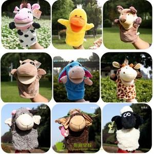 手偶玩具动物手套嘴巴能动幼儿园游戏表演玩偶讲故事腹语亲子道具