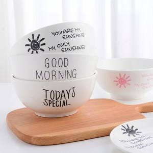 日式大碗zakka陶瓷大汤碗创意家用米饭碗菜碗面碗文艺早餐具