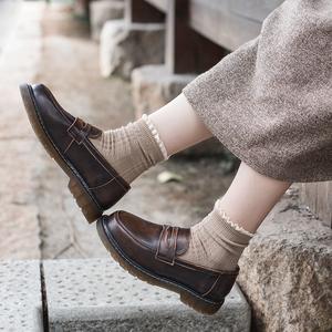 半岛鞋屋复古软妹秋季日系小皮鞋学院风JK鞋子制服鞋英伦乐福鞋女