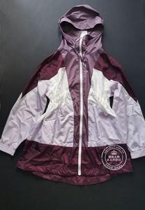 OL國內代購紫色拼色中長款薄風衣外套女 119136578 9136578