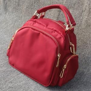 七彩韩版时尚女包单肩斜挎包防水尼龙小手提大容量牛津帆布妈妈包