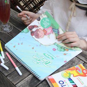 儿童画画书3-4-6-7岁涂色本 幼儿园涂鸦填色学本宝宝绘画书图画册