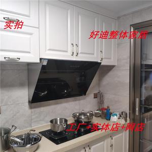 整体厨房定做 欧式吸塑橱柜  大理石灶台柜 石英石台面  1280元米