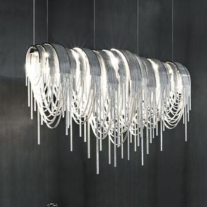 轻奢后现代创意个性流苏链条灯吧台客厅吊灯卧室灯餐厅别墅灯具