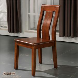 精品全实木家用靠背椅子现代简约木质凳子餐椅中式酒店餐厅餐桌椅图片