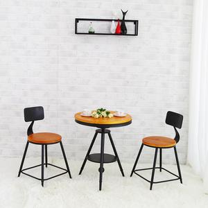铁艺阳台户外桌椅咖啡厅奶茶店酒吧台桌椅休闲实木茶几组合三件套