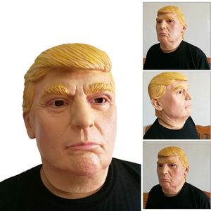 Donald Trump Costume Mask Halloween Realistic Latex Carnival