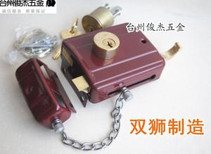 559(6172)双狮(双林)双舌弹子门锁*防盗锁*老式铁木门锁*铜胆锁芯