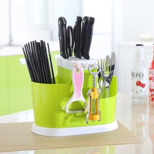 多功能家用插放廚房用品收納置物架菜刀架刀座筷籠一體筷筒