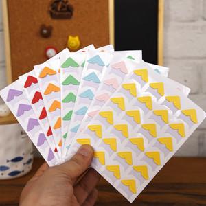 马卡龙糖果色纸质手工角贴粘贴式影集diy相册宝宝成长册制作配件