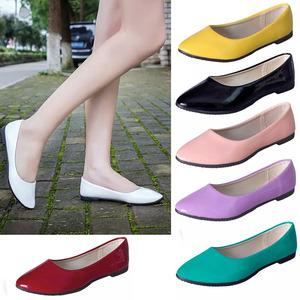 34小码平底鞋女单鞋40大码豆豆鞋瓢鞋一脚蹬懒人鞋甜美糖果色女鞋