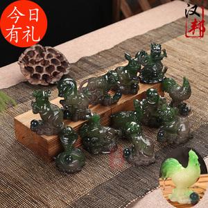 创意12十二生肖变色茶宠摆件茶台茶玩茶盘茶道茶具配件饰品摆设