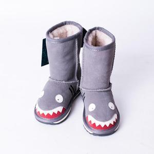 2015儿童雪地靴EMU男童鞋女童靴子防滑保暖大童中筒靴宝宝鞋 鲨鱼