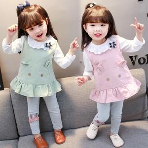 女童装套装春秋2019年新款0洋气1婴儿童2女宝宝3岁半秋季小童衣服