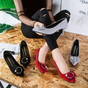 红色细跟鞋5cm