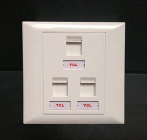 TCL罗格朗三口电脑面板三位网络面板插座3孔三孔网线网口宽带插座