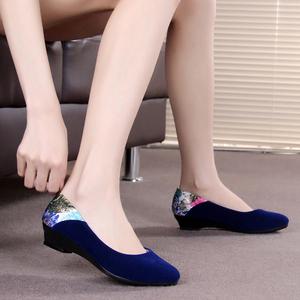 春秋季老北京布鞋女鞋舞蹈休閑工作護士女單鞋平跟酒店黑色媽媽鞋