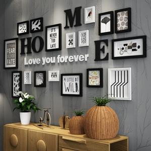 客厅沙发背景墙组合创意装饰画卧室餐厅墙上黑白个性挂画室内墙画