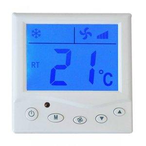 莱珂新款单显中央空调液晶温控器风机盘管温度控制器控温开关特价