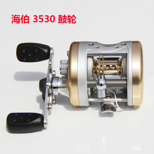 海伯 金龟3530路亚雷强轮 铝合金鼓轮 鼓式雷强轮 右手 正品包邮