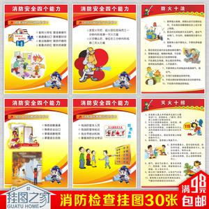 淘宝 消防宣传挂图展板栏四个能力建设知识标语2018新版安全生产月海