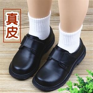 儿童皮鞋男春夏秋真皮表演鞋中大男童四季单鞋校服鞋学生正装皮鞋