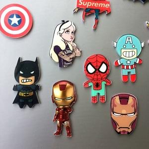 创意可爱卡通动漫人物吸铁石 磁性贴 漫威超人钢铁侠 冰箱贴 磁贴