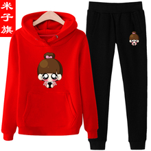 Casual sportswear suit female winter new students with thickening of 2017 cashmere sweater are a set of two Korean tide