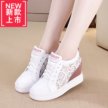 Korean designer shoes by thick bottom slope with the white lady shoes casual shoes lace shoes students fall